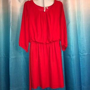 Women's red dress size L